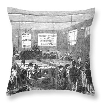 British Ragged School Throw Pillow by Granger