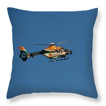 Broward County Sherriff Cop Ter Throw Pillow by Rob Hans
