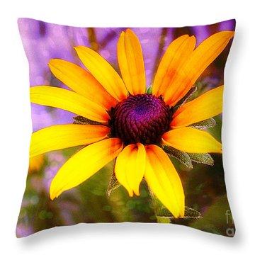 Brown-eyed Susan Throw Pillow by Judi Bagwell