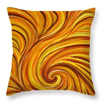 Brown Swirl Throw Pillow by Hakon Soreide