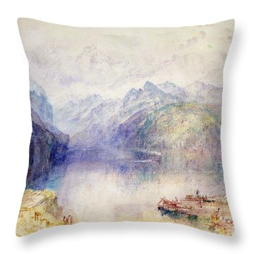 Brunnen  Throw Pillow by Joseph Mallord William Turner