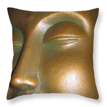 Buddha 25 Throw Pillow by Cheryl Young