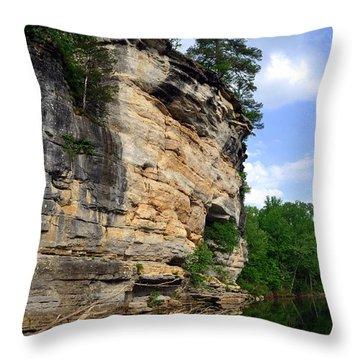 Buffalo Bluff 2 Throw Pillow by Marty Koch