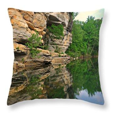Buffalo Bluff 3 Throw Pillow by Marty Koch