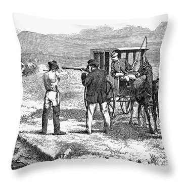 Buffalo Hunting, 1874 Throw Pillow by Granger