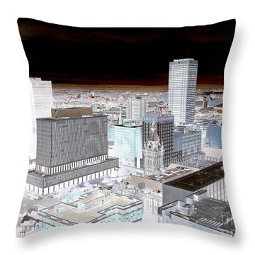 Buffalo New York Aerial View Inverted Effect Throw Pillow by Rose Santuci-Sofranko