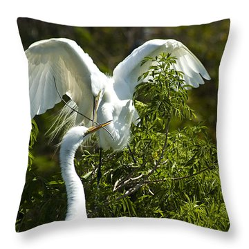 Building Our Home Throw Pillow by Carolyn Marshall