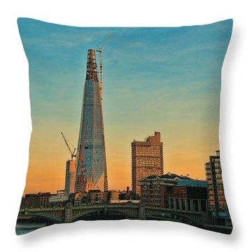 Building Shard Throw Pillow by Jasna Buncic