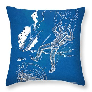 Bulletproof Patent Artwork 1968 Figures 16 To 17 Throw Pillow by Nikki Marie Smith
