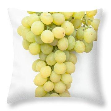 Bunch Of Grapes Throw Pillow by Maj Seda
