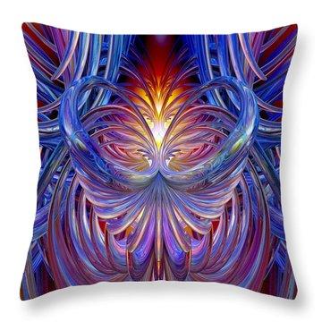 Burning Heart Of Desire Fx  Throw Pillow by G Adam Orosco