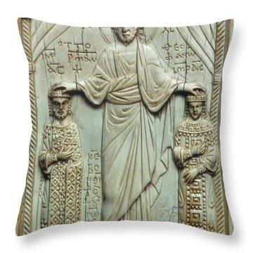 Byzantine Art Throw Pillow by Granger