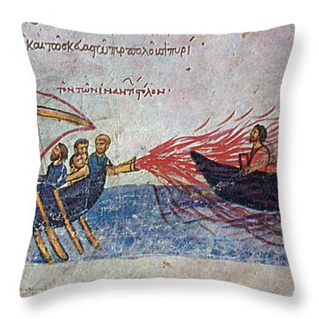 Byzantine Sailors  Throw Pillow by Photo Researchers