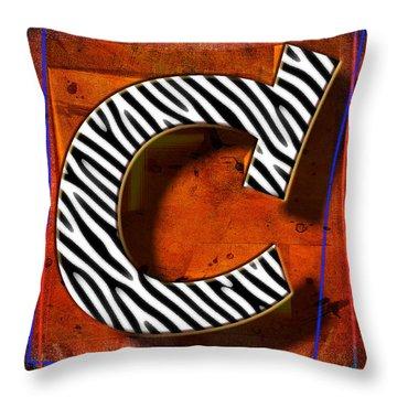 C Throw Pillow by Mauro Celotti