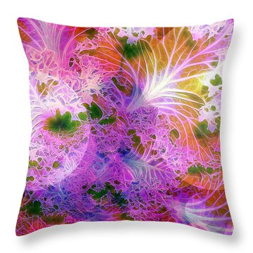 Cabbage Moon Throw Pillow by Judi Bagwell