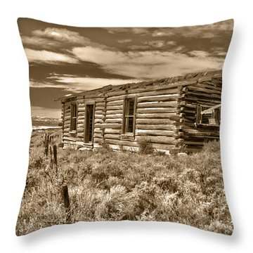 Cabin Fever Throw Pillow by Shane Bechler