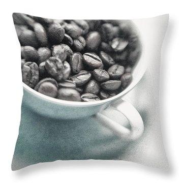 Caffeine Throw Pillow by Priska Wettstein