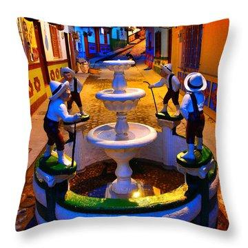 Calle Del Recuerdo Throw Pillow by Skip Hunt
