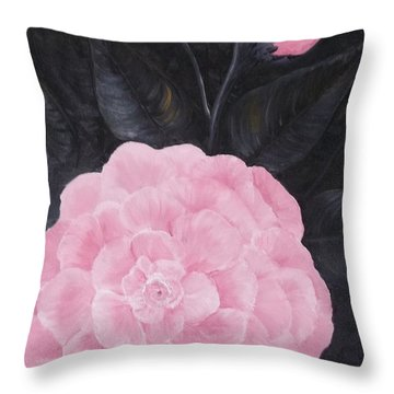 Camelia Throw Pillow by Rhonda Lee