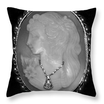 Cameo In Black And White Throw Pillow by Rob Hans
