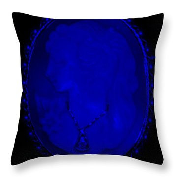 Cameo In Blue Throw Pillow by Rob Hans