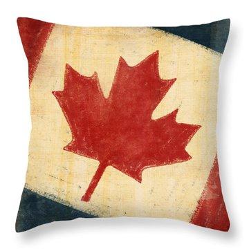 Canada Flag Throw Pillow by Setsiri Silapasuwanchai
