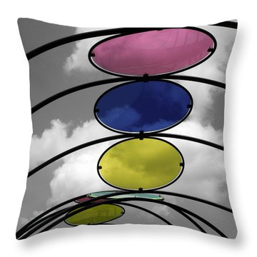 Canopy Black And White Abstract Throw Pillow by Sandi OReilly