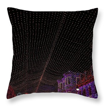 Canopy Of Lights Throw Pillow by Ronnie Glover