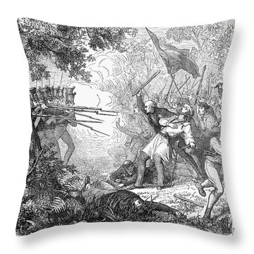 Canterbury Riot, 1838 Throw Pillow by Granger