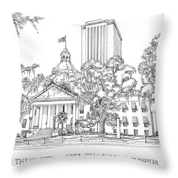 Capitol 2002 Tallahassee Throw Pillow by Audrey Peaty
