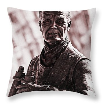Captain F J Walker Throw Pillow by Meirion Matthias
