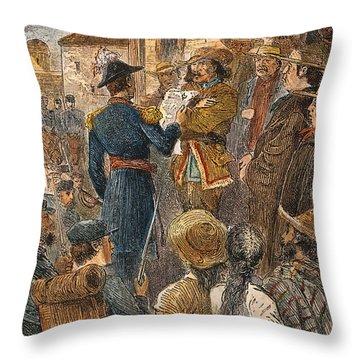 Capture Of Santa Fe, 1846 Throw Pillow by Granger