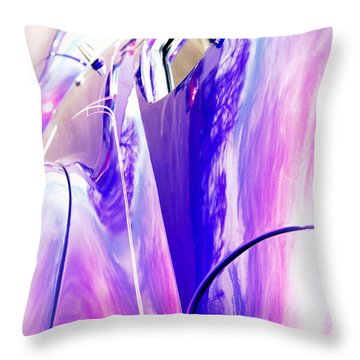 Car Reflections Throw Pillow by Susanne Van Hulst
