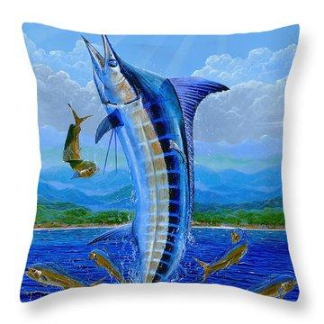 Caribbean Blue Throw Pillow by Carey Chen