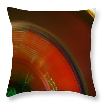 Carnival Lights Throw Pillow by Michelle Calkins