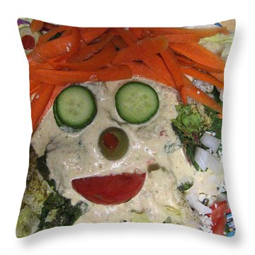 Carrot Top Throw Pillow by Kym Backland