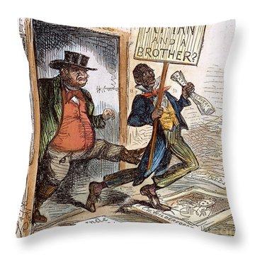 Cartoon: Slavery, 1861 Throw Pillow by Granger