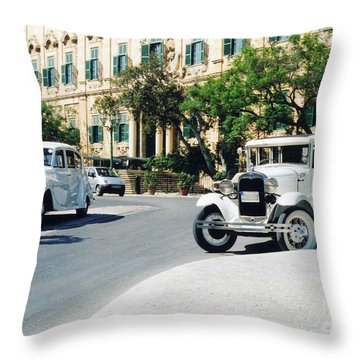 Castille Square Throw Pillow by John Chatterley