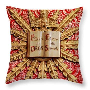 Catholic Church Decorations Throw Pillow by Gaspar Avila