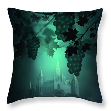Catle And Grapes Throw Pillow by Svetlana Sewell