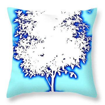 Cats In Heaven Throw Pillow by David G Paul