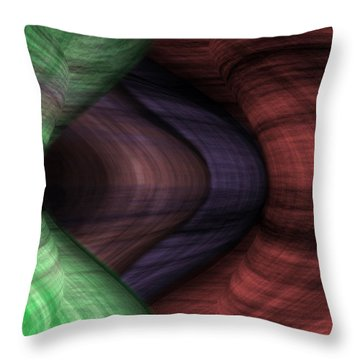Caverns Of Wonder Throw Pillow by Christopher Gaston
