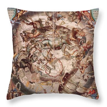 Cellariuss Constellations, 1660 Throw Pillow by Science Source