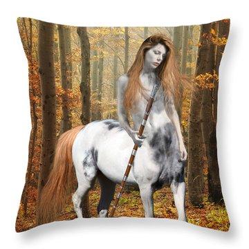 Centaur Series Autumn Walk Throw Pillow by Nikki Marie Smith