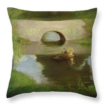 Central Park Throw Pillow by George Luks