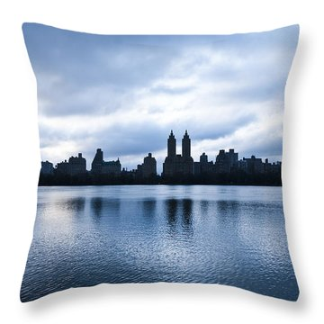 Central Park Lake Throw Pillow by Svetlana Sewell