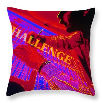 Challenge Throw Pillow by Jerry McElroy
