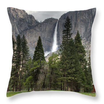 Chapel In The Valley Throw Pillow by Sue Karski