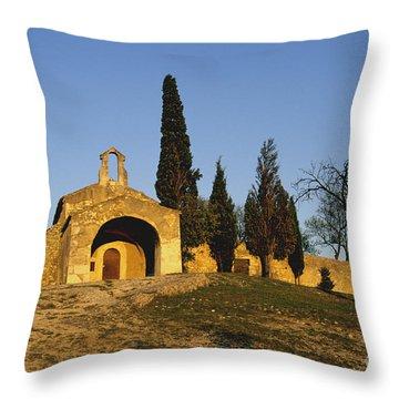 Chapelle D'eygalieres En Provence. Throw Pillow by Bernard Jaubert