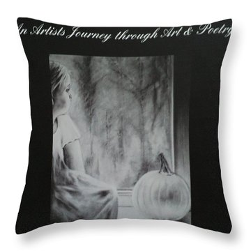 Charcoal Expressions My Poetry And Art Book Throw Pillow by Carla Carson